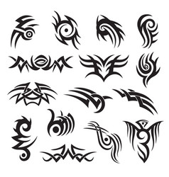 set tribal style tattoo design arm band vector image