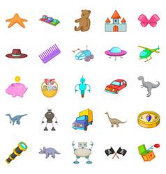 sideshow toy icons set cartoon style vector image