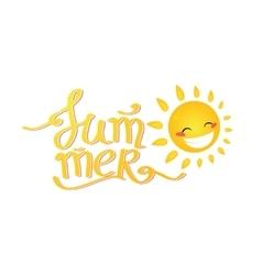 Summer Lettering cartoon sun vector image