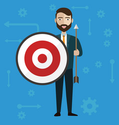 target businessman strategy concept flat modern vector image