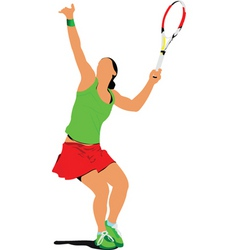 tennis woman vector image