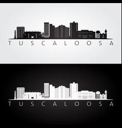tuscaloosa usa skyline and landmarks silhouette vector image