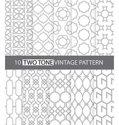 Two tone vintage style seamless pattern vector image