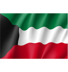 waving flag of kuwait vector image
