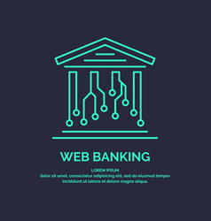 Web banking for cryptocurrency global digital vector