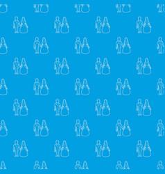 wedding pattern seamless blue vector image