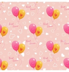 Wedding seamless pattern with balloons vector image