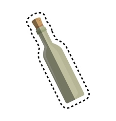 Wine bottle kitchen tool isolated icon vector