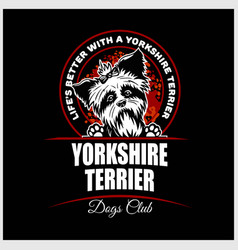 Yorkshire terrier - for t vector