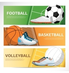Concept of sport banner Footbal basketball field vector image vector image