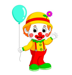 cute clown cartoon vector image