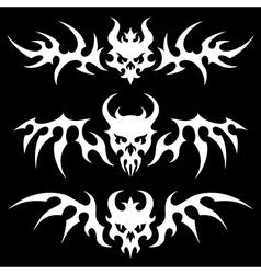 death skulls wings vector image