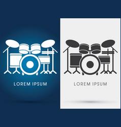 drum set music vector image vector image