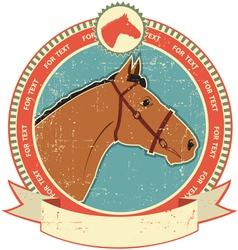 horse head label vector image vector image