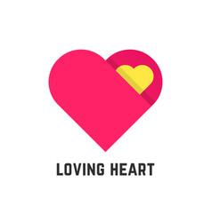 pink loving heart symbol like postcard vector image