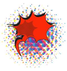 red explosive comic pop art speech bubble vector image vector image