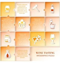 Flat vine infographic design vector image