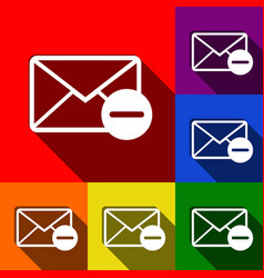 mail sign set of icons with vector image