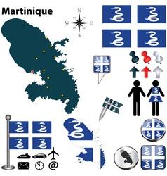 Martinique map vector