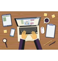 Professional creative graphic designer working at vector image vector image