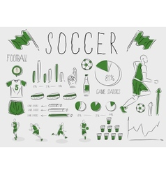 soccerfootball inforgrapic vector image