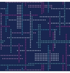 Abstract seamless techno pattern vector image vector image