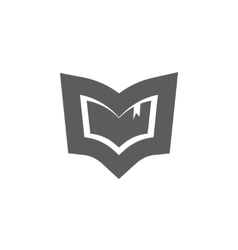Book logo emblem isolated concept of vector image vector image
