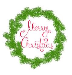 festive round wreath vector image vector image