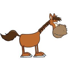 Horse Cartoon Mascot Character vector image vector image