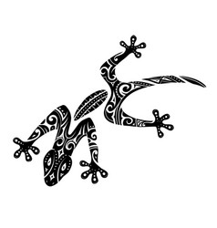 maori style gecko tattoo vector image