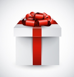 Realistic 3d gift box vector image vector image