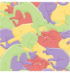 Sleeping cats pattern vector image