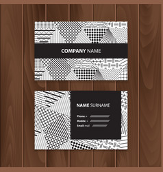 abstract creative business cards with cover vector image