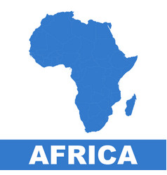 Africa map icon flat africa sign symbol with vector