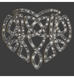 Celtic heart intertwine knot ethnic symbol vector image vector image
