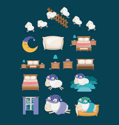 Color background with colorful elements sleep time vector