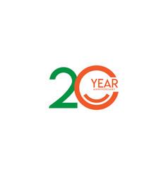 20 year anniversary celebration template design vector image
