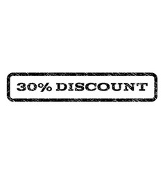 30 percent discount watermark stamp vector