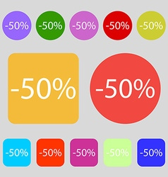 50 percent discount sign icon Sale symbol Special vector image