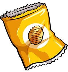 A pouch of chips vector