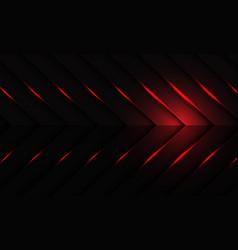 Abstract red light on dark metallic arrow pattern vector