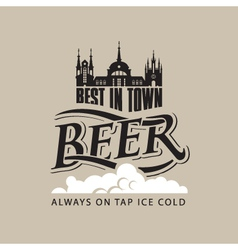 beer tap on vector image