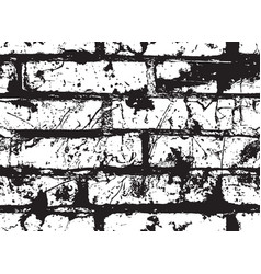 Black and white seamless pattern with brick wall vector