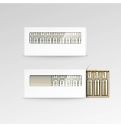 Blank Packaging Box for Ampoules Isolated vector image
