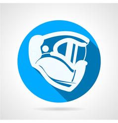 Blue flat icon for paintball helmet vector