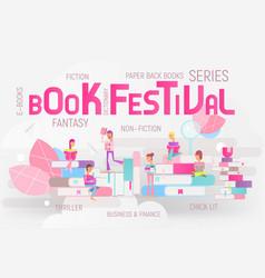 book festival fair vector image