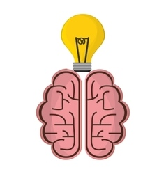 Brain idea creative solution concept vector