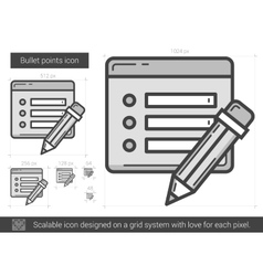 Bullet points line icon vector image