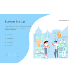 business start-up concept vector image