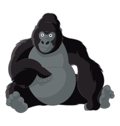 Cartoon smiling gorilla vector